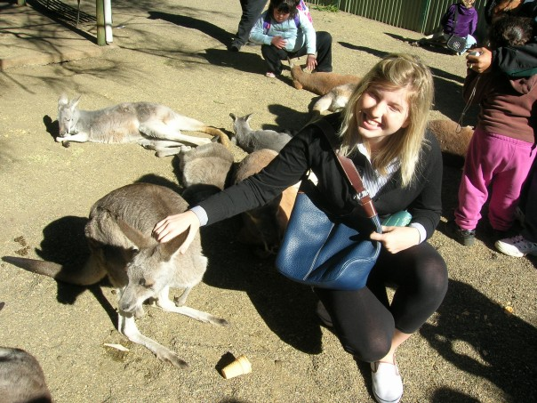 Me and a drugged wallaby. I think they drugged them so they would say still and not hop around.